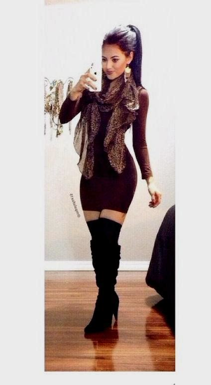 dress with boots bodycon dress with boots naf dresses