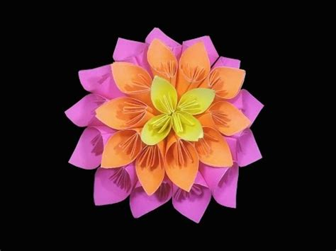Cool Origami Flowers - simple origami flower kusudama how to make origami flowers
