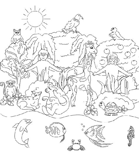 coloring page for god s creation free coloring pages of god creation