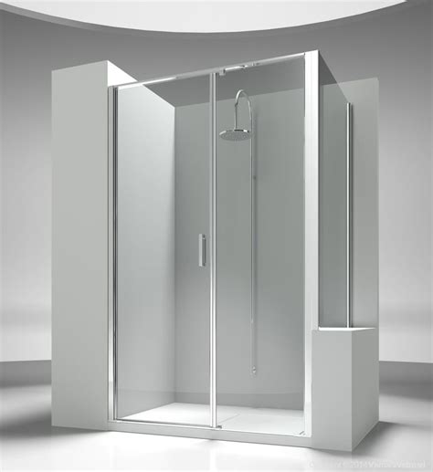 Shower Doors By Tj Shower Enclosure Next To A Bath Tub Or A Small Wall It Is Made By An Opening Element With Two