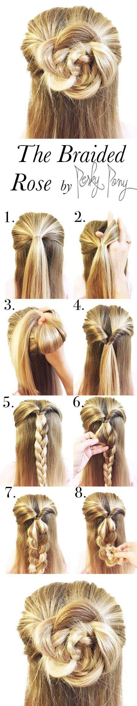rose hairstyle half up half down 18 half up half down hairstyle tutorials perfect for prom