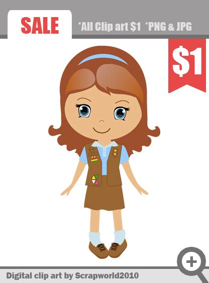 Scout Brownie Clip by Brownie Scout Clip 18546