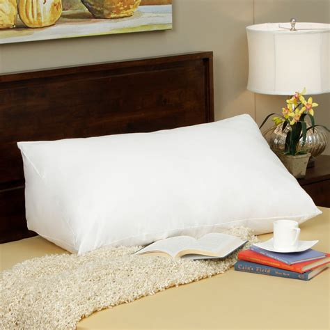 upright bed pillow down alternative reading wedge pillow ebay