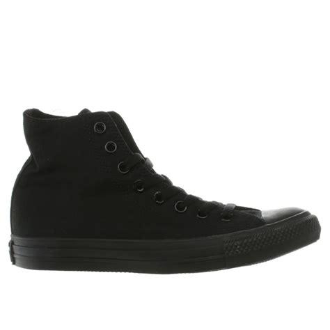 Conversehigh Total Black mens black converse all mono hi trainers schuh