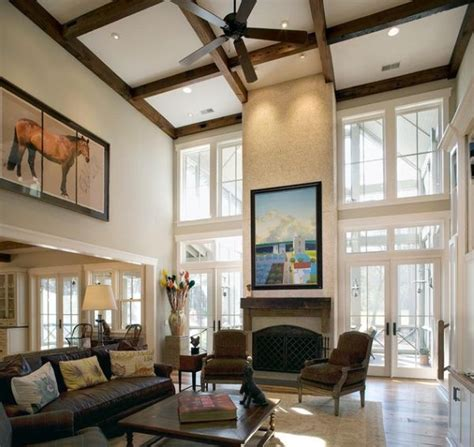 Ceiling Decorating Ideas For Living Room by 10 High Ceiling Living Room Design Ideas