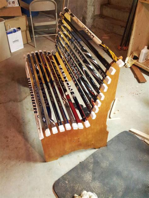 stick projects project broken hockey stick bench dan zehner