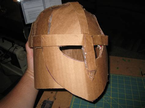 How To Make A Helmet Out Of Paper Mache - happily crafter diy building a helmet out
