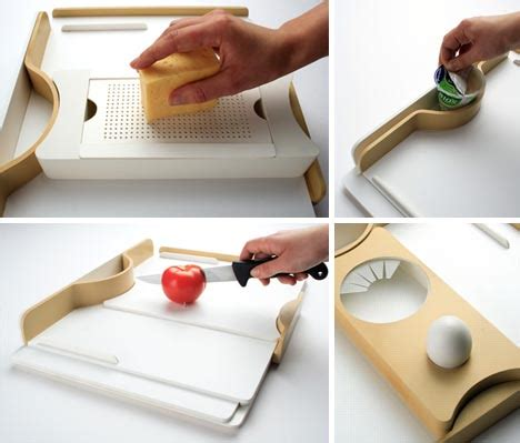 One Handed Kitchen Equipment by On The One Clever Single Handed Kitchware Design
