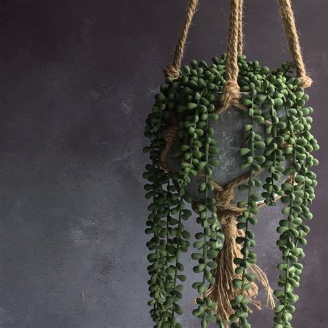 string  pearls artificial hanging pot plant