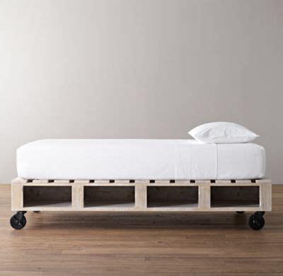 restoration hardware dog bed i could so diy this warehouse pallet bed all beds
