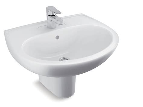 half pedestal bathroom sinks brive half pedestal lavatory with single faucet hole k