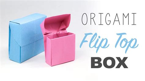 Cigarette Box Origami - origami flip top box tutorial paper kawaii origami