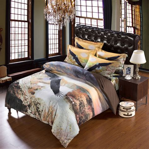 4 Piece Set 100 Microfiber 3d Bedding Sets Eagle Print Eagles Bed Set