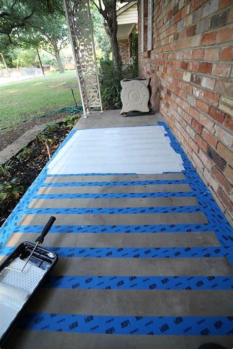 paint concretea patio makeover painting concrete