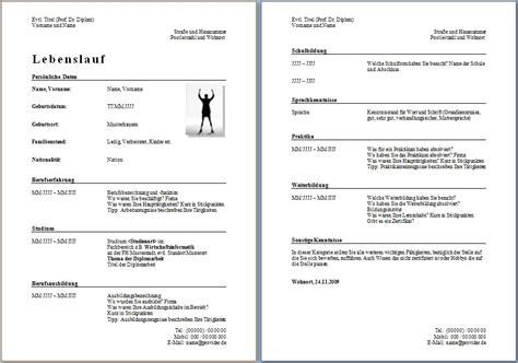 Tabellarischer Lebenslauf Vorlage Herunterladen Lebenslauf Word Vorlage Lebenslauf