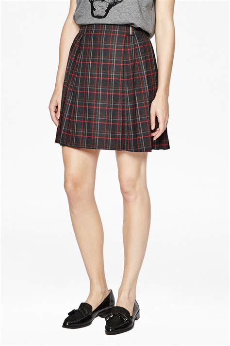 soho check pleated skirt collections connection
