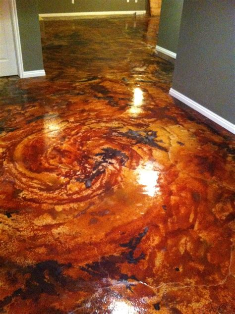 English Red Acid Stain Project Photo Gallery   Bodenbelag