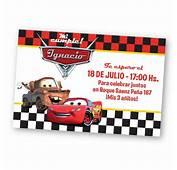 Invitaciones Personalizadas De Cumplea&241os Cars