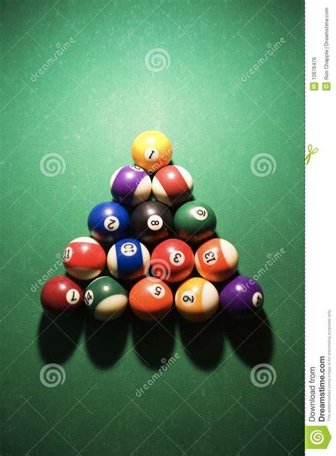 racked pool balls racked pool balls royalty free stock image image 12676476