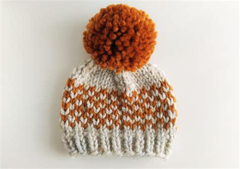 pom pom knitting patterns hat knitting pattern chunky pom pom hat fair isle hat