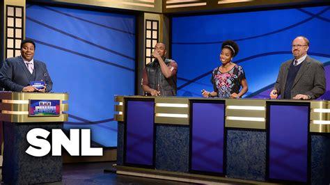 celebrity jeopardy snl transcripts black jeopardy saturday night live youtube