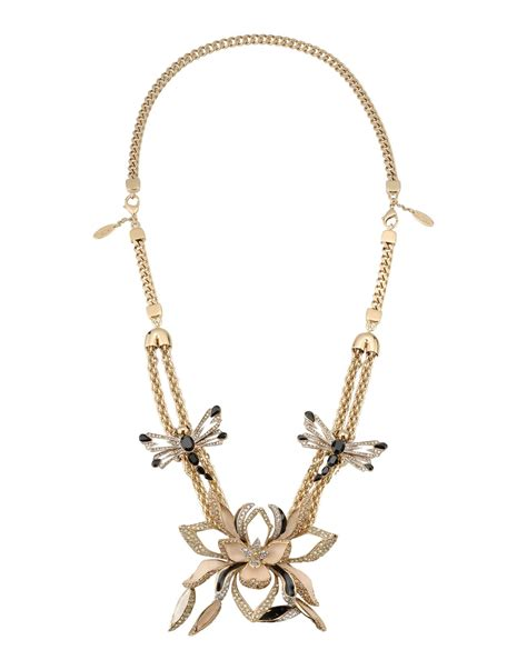 Cavalli Jewelry lyst roberto cavalli necklace in metallic