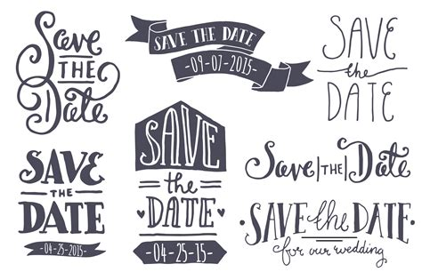 Black And White Save The Date Templates Free Save The Date Clipart Pictures Clipartix
