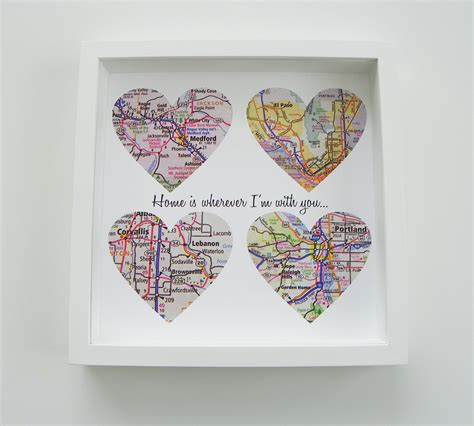personalized gifts ideas unique wedding gift personalized map heart art gift any
