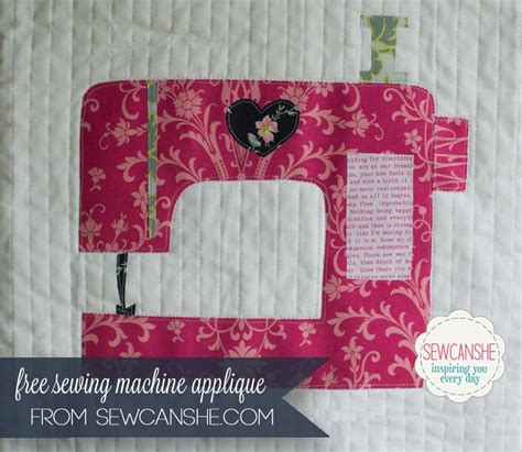 How To Sew Applique by Free Sewing Pattern Sewing Machine Applique I Sew Free