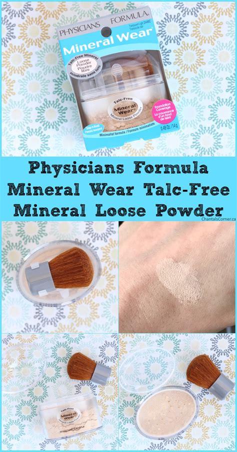 Mineral Wear Talc Free Mineral Powder physicians formula mineral wear talc free mineral