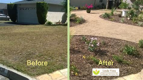 Grass Yard to Drought Tolerant Landscape Linda Vista