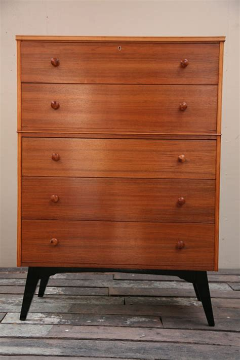1950s Chest Of Drawers by Large 1950s Chest Of Drawers And Chrome