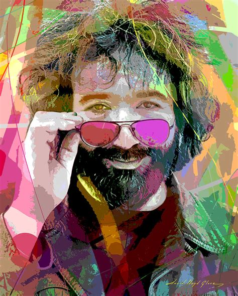 jerry painting jerry garcia painting by david lloyd