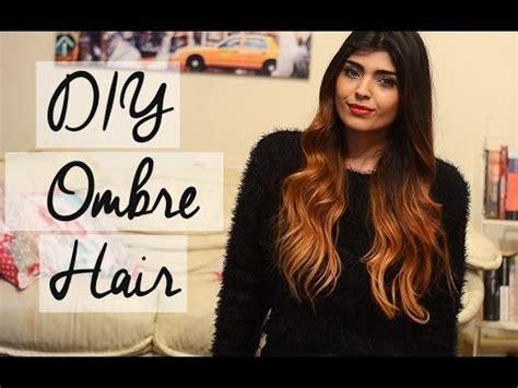 diy ombre hair tutorial talk for brown and black hair shewearsfashion