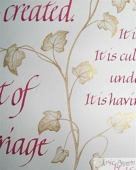 Wedding Album Poem by Josie Brown Calligraphy Heraldry Illumination Gilding