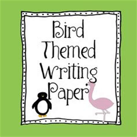 bird writing paper bird crafts and activities for on