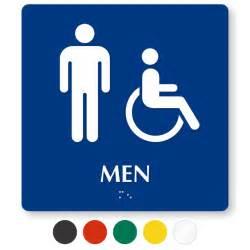 and handicap pictogram braille restroom sign sku se