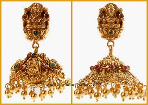 Gold Angti Disain by Lakshmi Design Gold Temple Jhumka Designs