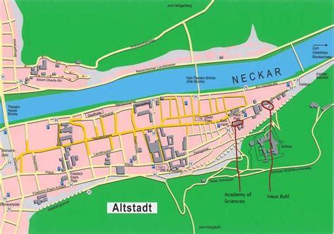 map heidelberg germany heidelberg germany tourist destinations