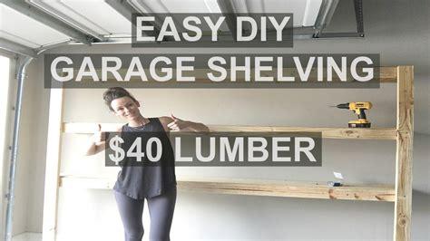 build fast  easy garage shelving