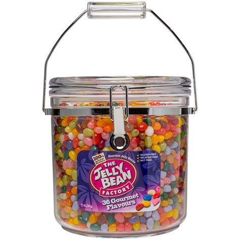4 2 kg cookie jar of gourmet jelly beans the
