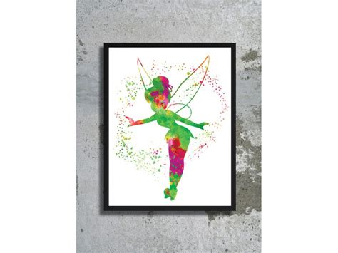 tinkerbell home decor tinkerbell watercolor archival art print poster home decor