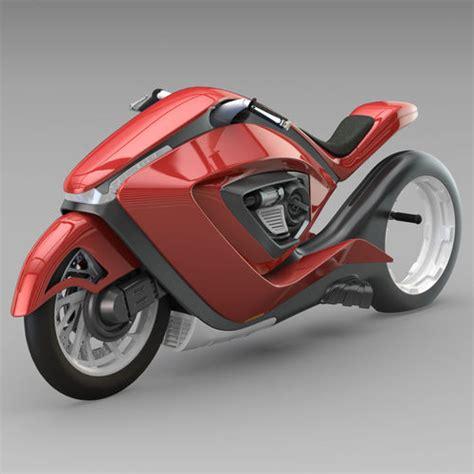 sport bike futuristic concept  model cgtrader
