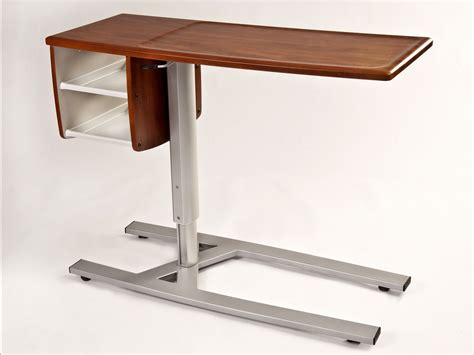 hospital bed tray table with drawer the bed modern hospital tray table with wooden top