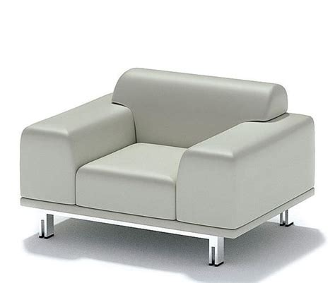 white single sofa white luxury single seat sofa 3d model