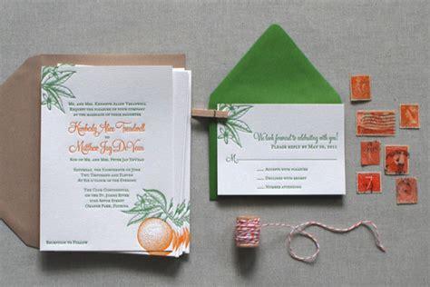 florida wedding invitations classic florida inspired citrus wedding invitations