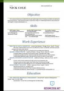 Standard Professional Resume Format by Word Resume Templates 2016