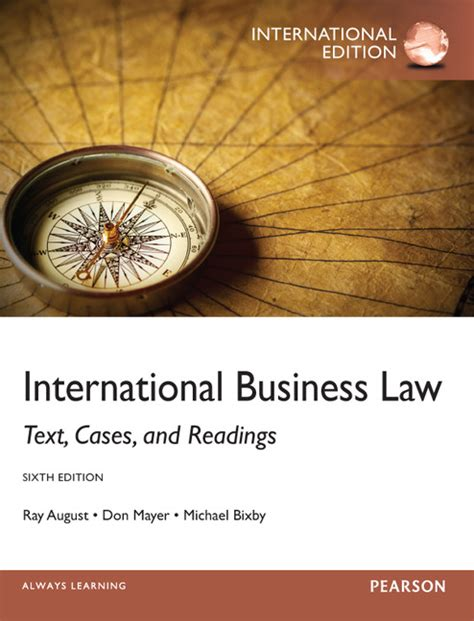 Pearson Education International Business Law