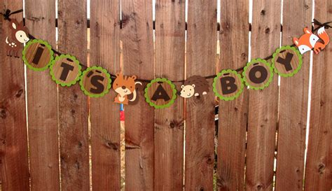 Woodland Critters Baby Shower by Woodland Creatures Banner It S A Boy Baby Shower