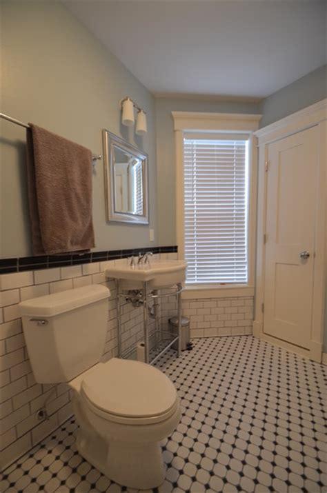 craftsman style bathrooms retro craftsman style subway bathroom traditional bathroom
